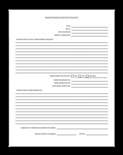 maintenance repair request form