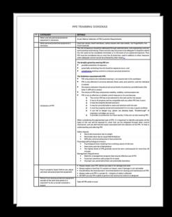 PPE Training Checklist