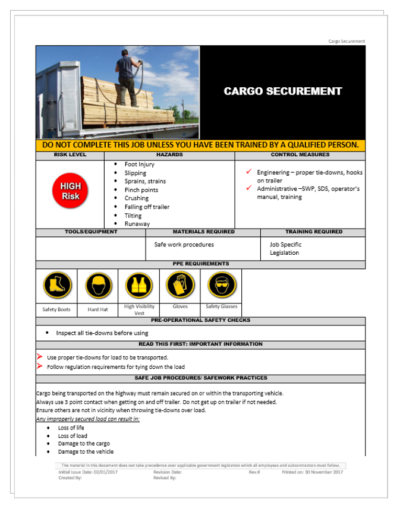 Cargo Securement