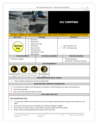 Ice Chipping