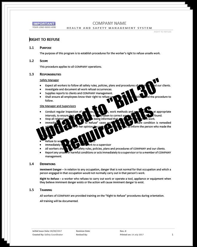 Right to Refuse_Bill 30